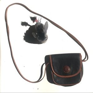 Espirit mini navy and tan crossbody bag. VINTAGE.